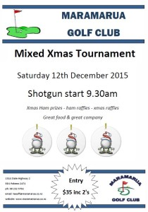 mixed xmas tournament 2015