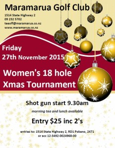 womens 18 hole xmas tournament 2015