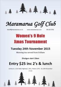 women's 9 hole xmas