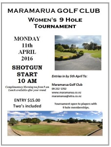 Women's 9 hole tournament 2016